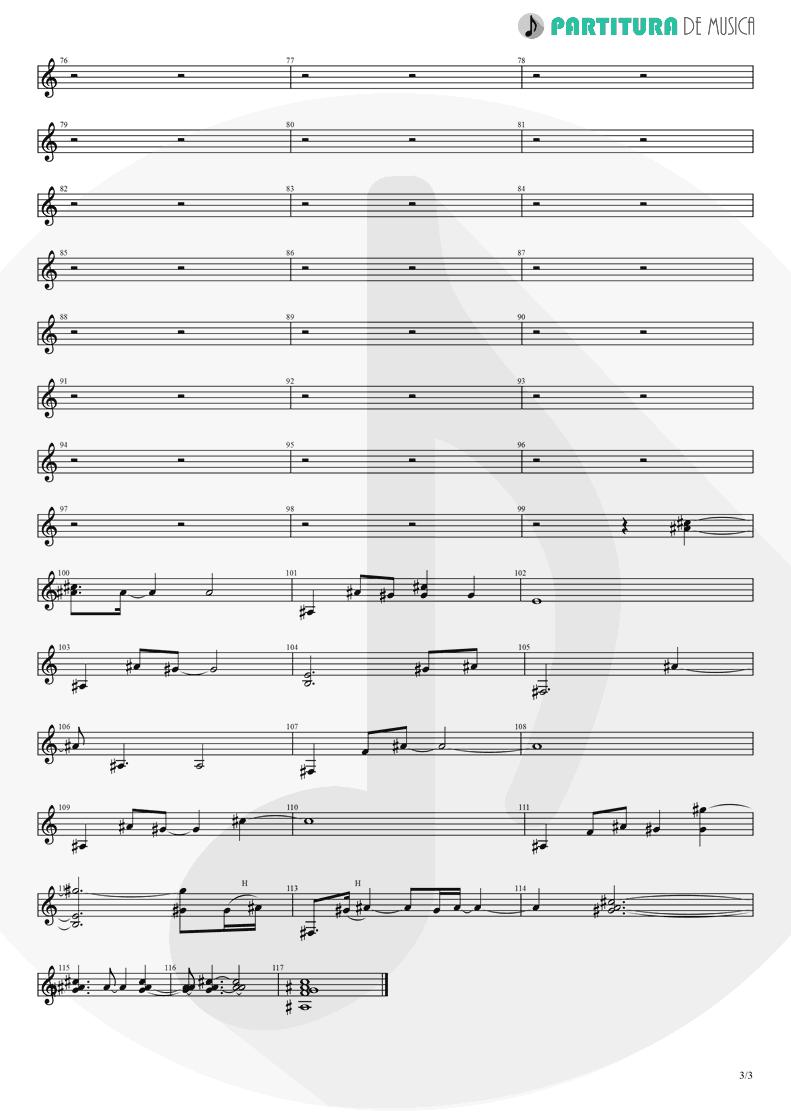 Partitura de musica de Guitarra Elétrica - Brena | A Perfect Circle | Mer de Noms 2000 - pag 3