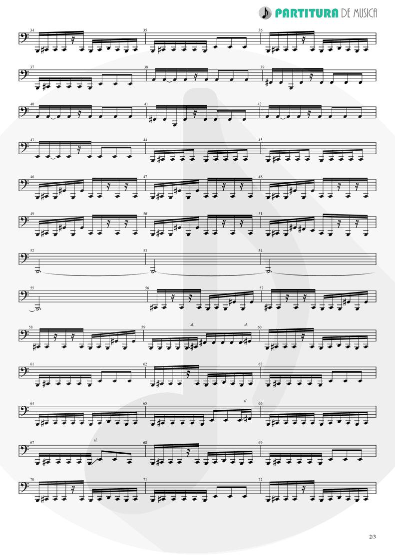 Partitura de musica de Baixo Elétrico - Judith   A Perfect Circle   Mer de Noms 2000 - pag 2
