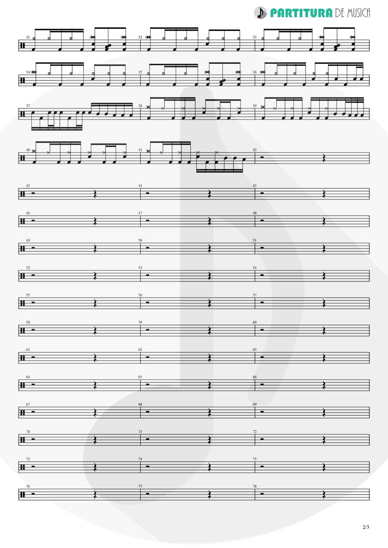 Partitura de musica de Bateria - Judith | A Perfect Circle | Mer de Noms 2000 - pag 2