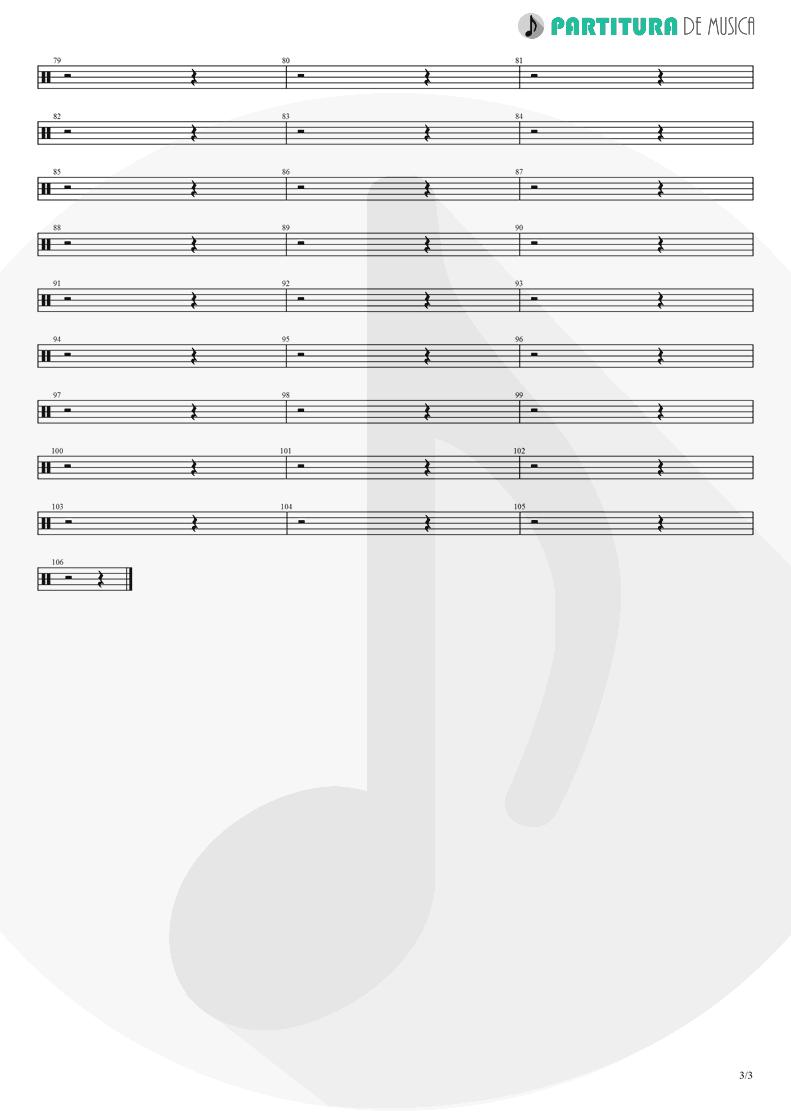Partitura de musica de Bateria - Judith | A Perfect Circle | Mer de Noms 2000 - pag 3
