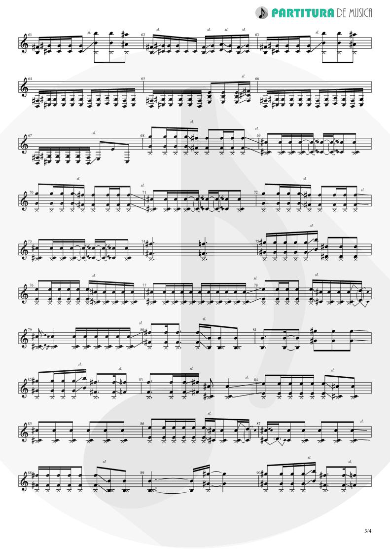 Partitura de musica de Guitarra Elétrica - Judith | A Perfect Circle | Mer de Noms 2000 - pag 3