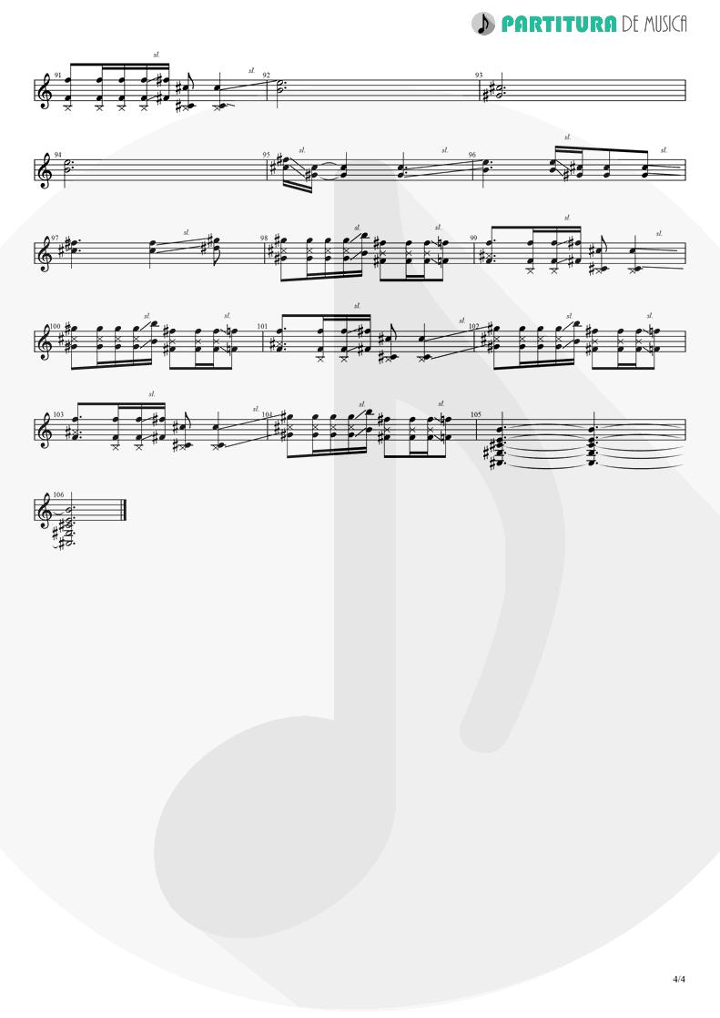 Partitura de musica de Guitarra Elétrica - Judith | A Perfect Circle | Mer de Noms 2000 - pag 4