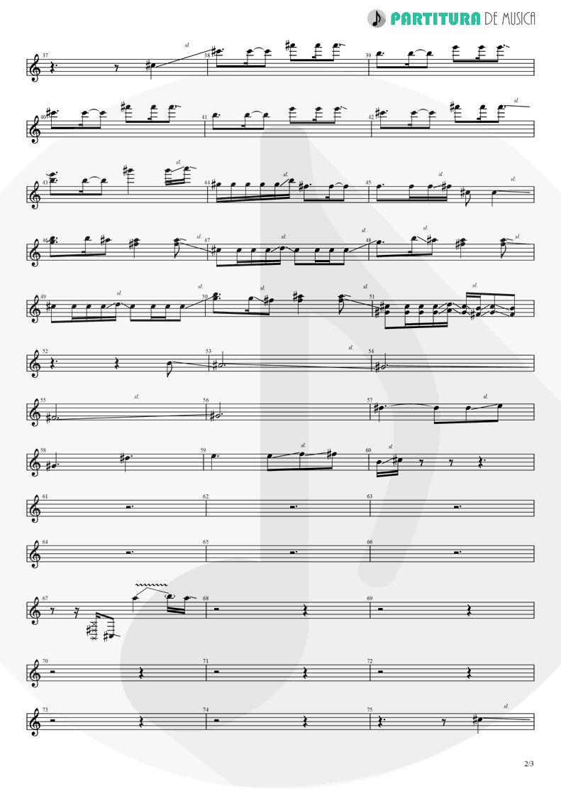 Partitura de musica de Guitarra Elétrica - Judith | A Perfect Circle | Mer de Noms 2000 - pag 2