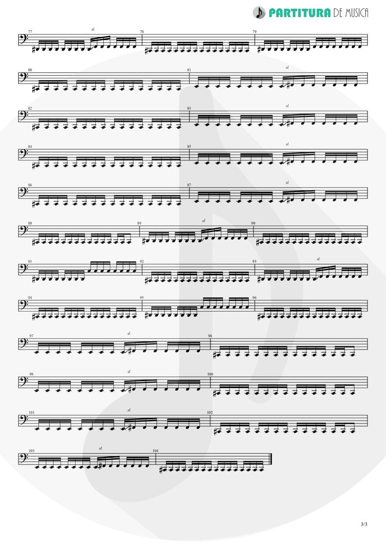 Partitura de musica de Baixo Elétrico - Magdalena | A Perfect Circle | Mer de Noms 2000 - pag 3