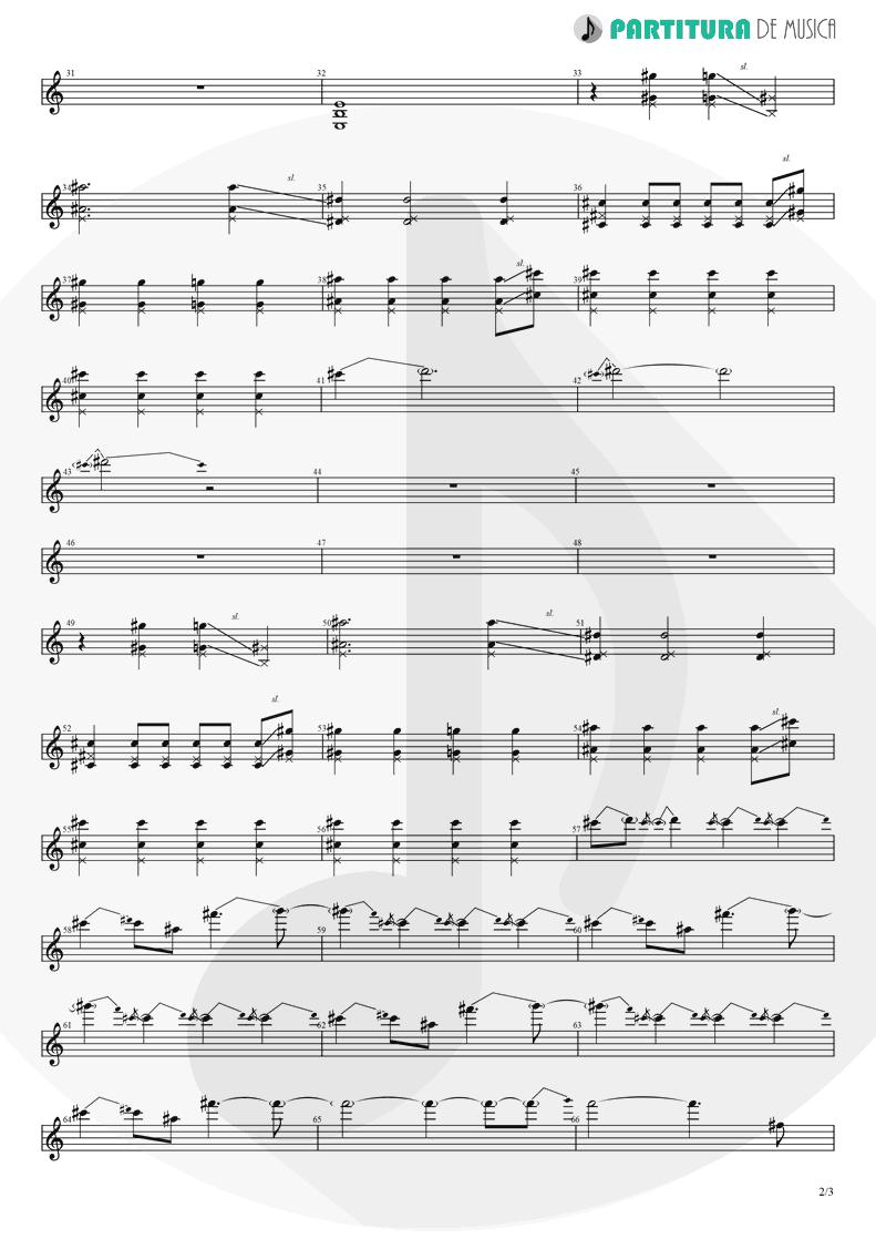 Partitura de musica de Guitarra Elétrica - Magdalena | A Perfect Circle | Mer de Noms 2000 - pag 2