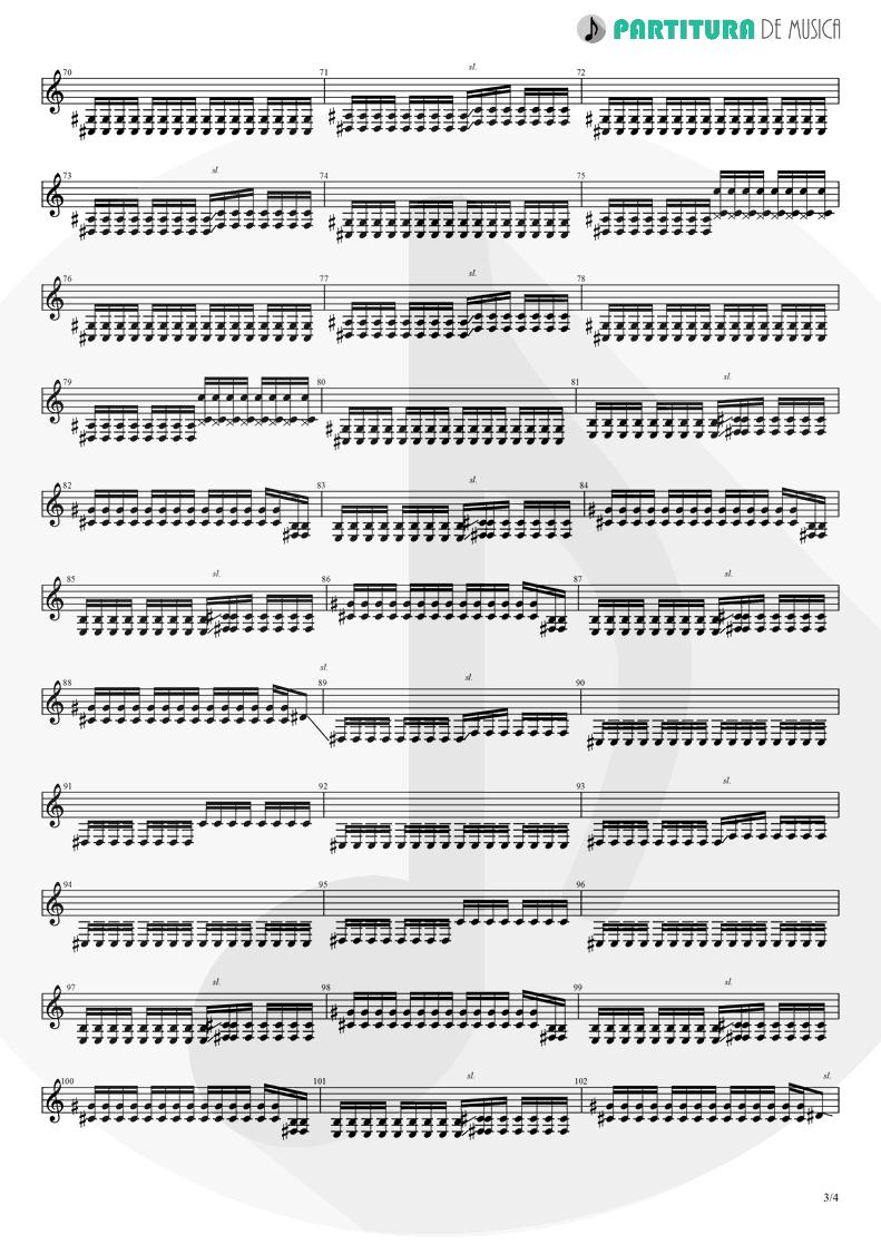 Partitura de musica de Guitarra Elétrica - Magdalena | A Perfect Circle | Mer de Noms 2000 - pag 3