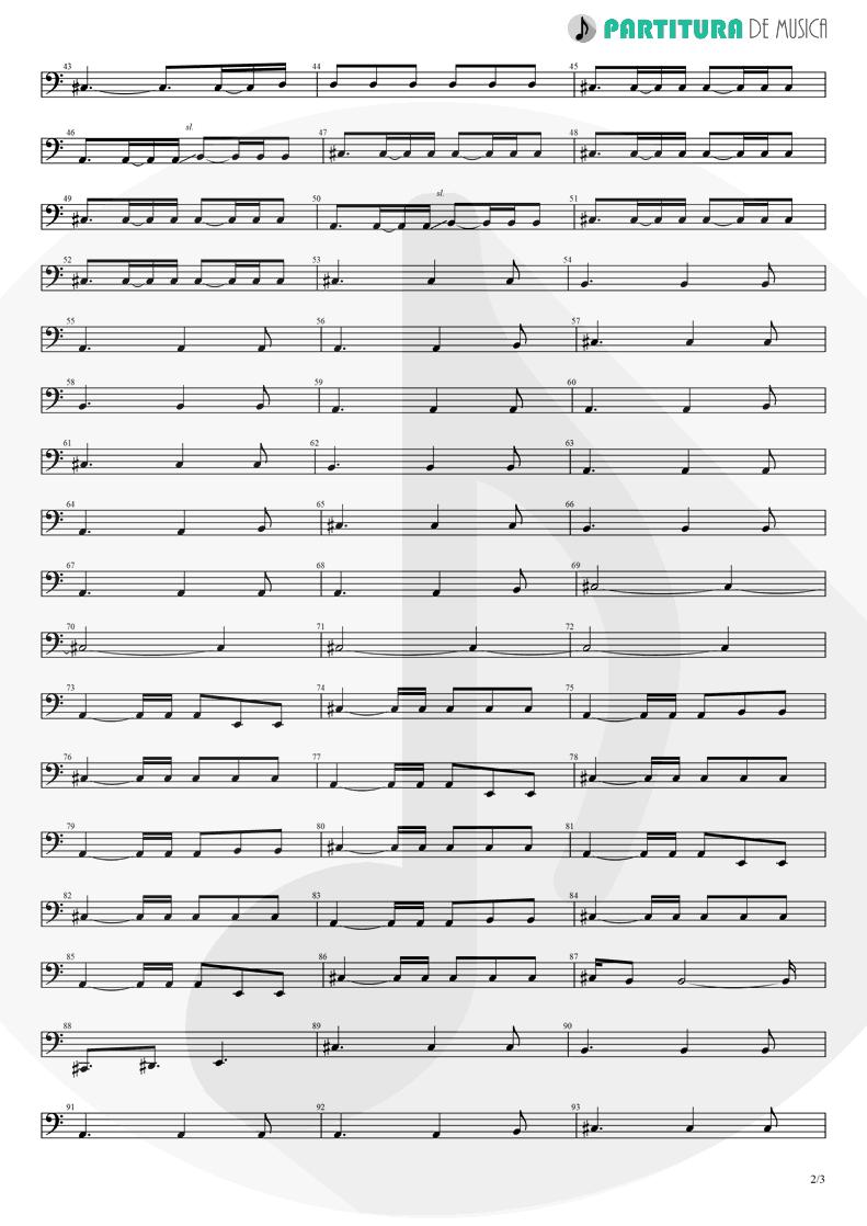 Partitura de musica de Baixo Elétrico - Orestes | A Perfect Circle | Mer de Noms 2000 - pag 2