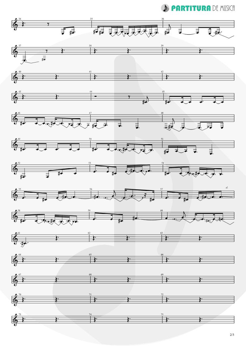 Partitura de musica de Canto - Orestes   A Perfect Circle   Mer de Noms 2000 - pag 2