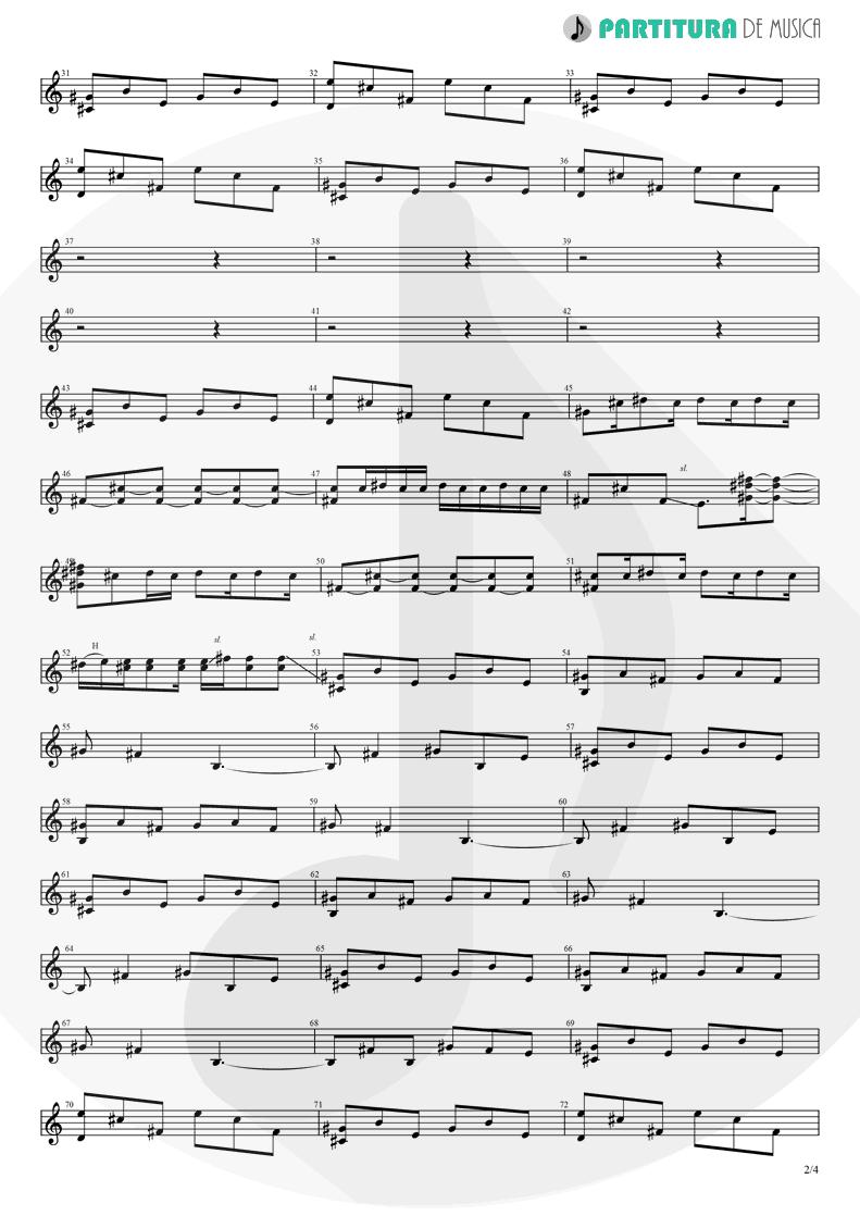 Partitura de musica de Guitarra Elétrica - Orestes | A Perfect Circle | Mer de Noms 2000 - pag 2