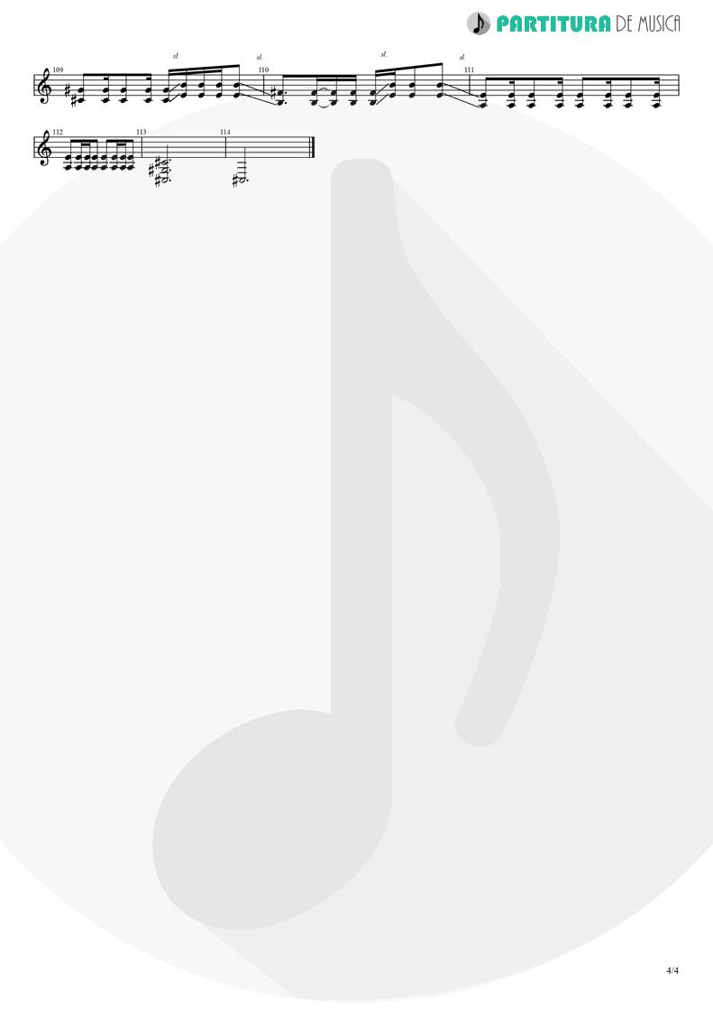 Partitura de musica de Guitarra Elétrica - Orestes | A Perfect Circle | Mer de Noms 2000 - pag 4