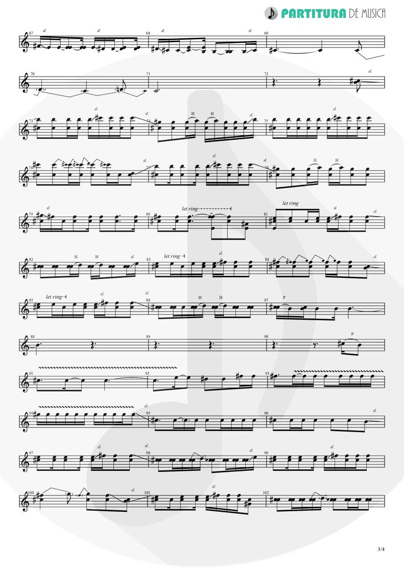 Partitura de musica de Guitarra Elétrica - Orestes | A Perfect Circle | Mer de Noms 2000 - pag 3
