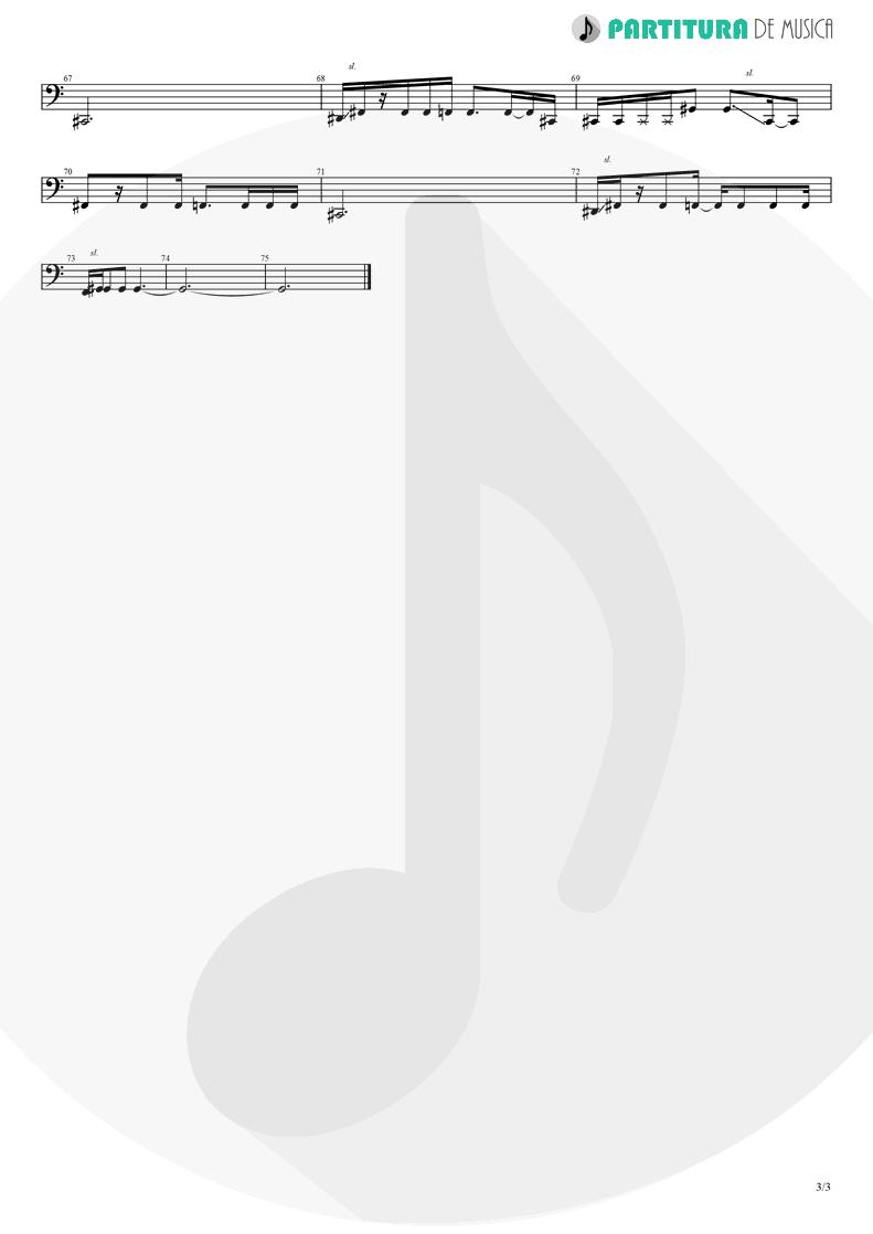 Partitura de musica de Baixo Elétrico - The Hollow | A Perfect Circle | Mer de Noms 2000 - pag 3