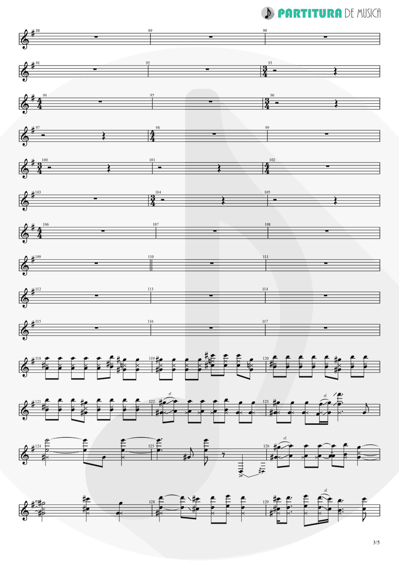 Partitura de musica de Guitarra Elétrica - Thinking Of You | A Perfect Circle | Mer de Noms 2000 - pag 3