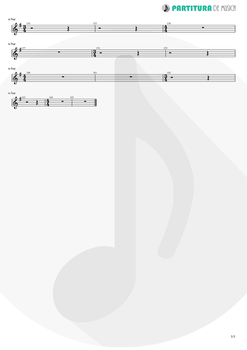 Partitura de musica de Guitarra Elétrica - Thinking Of You | A Perfect Circle | Mer de Noms 2000 - pag 5