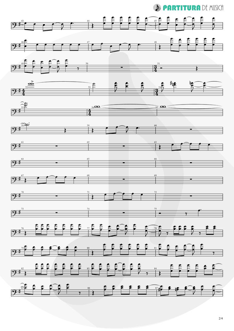 Partitura de musica de Violino - Thinking Of You | A Perfect Circle | Mer de Noms 2000 - pag 2