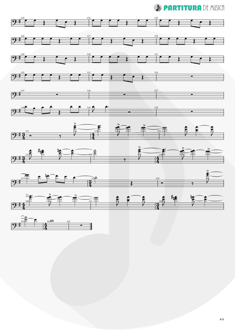 Partitura de musica de Violino - Thinking Of You | A Perfect Circle | Mer de Noms 2000 - pag 4