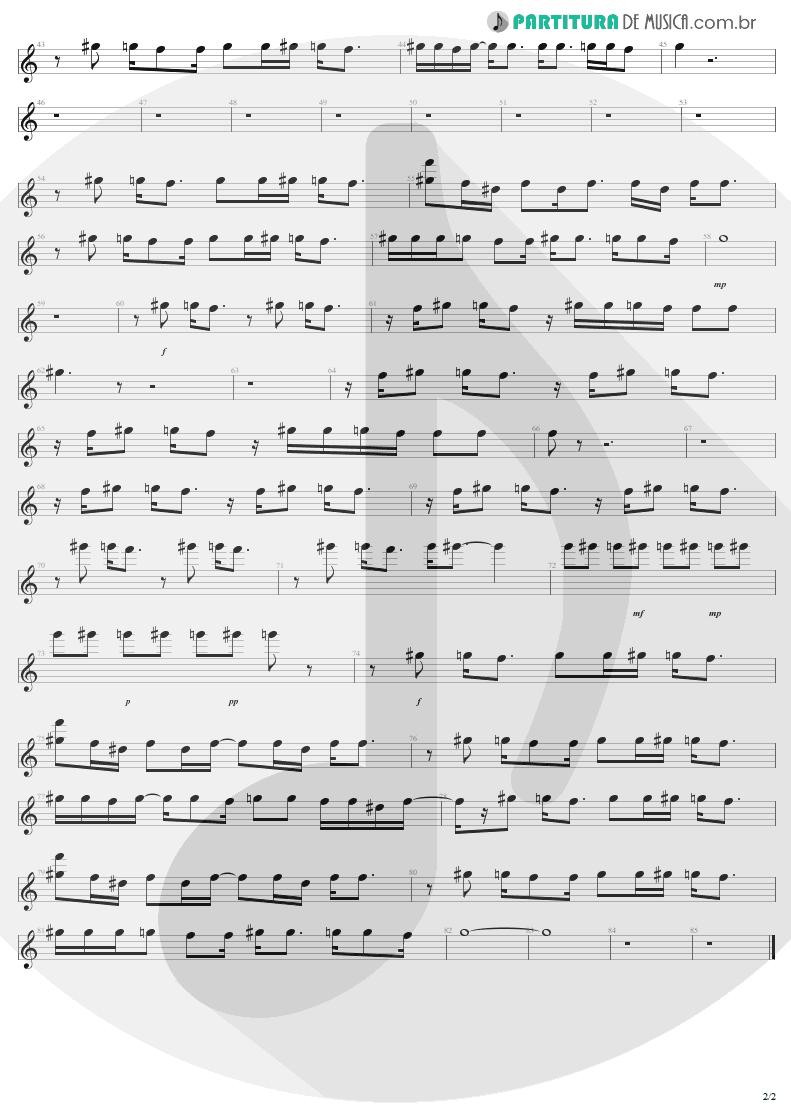 Partitura de musica de Canto - Dream On | Aerosmith | Aerosmith 1973 - pag 2