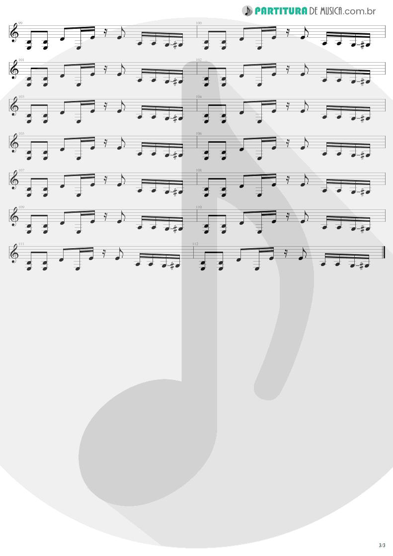 Partitura de musica de Guitarra Elétrica - Sweet Emotion   Aerosmith   Toys In The Attic 1975 - pag 3