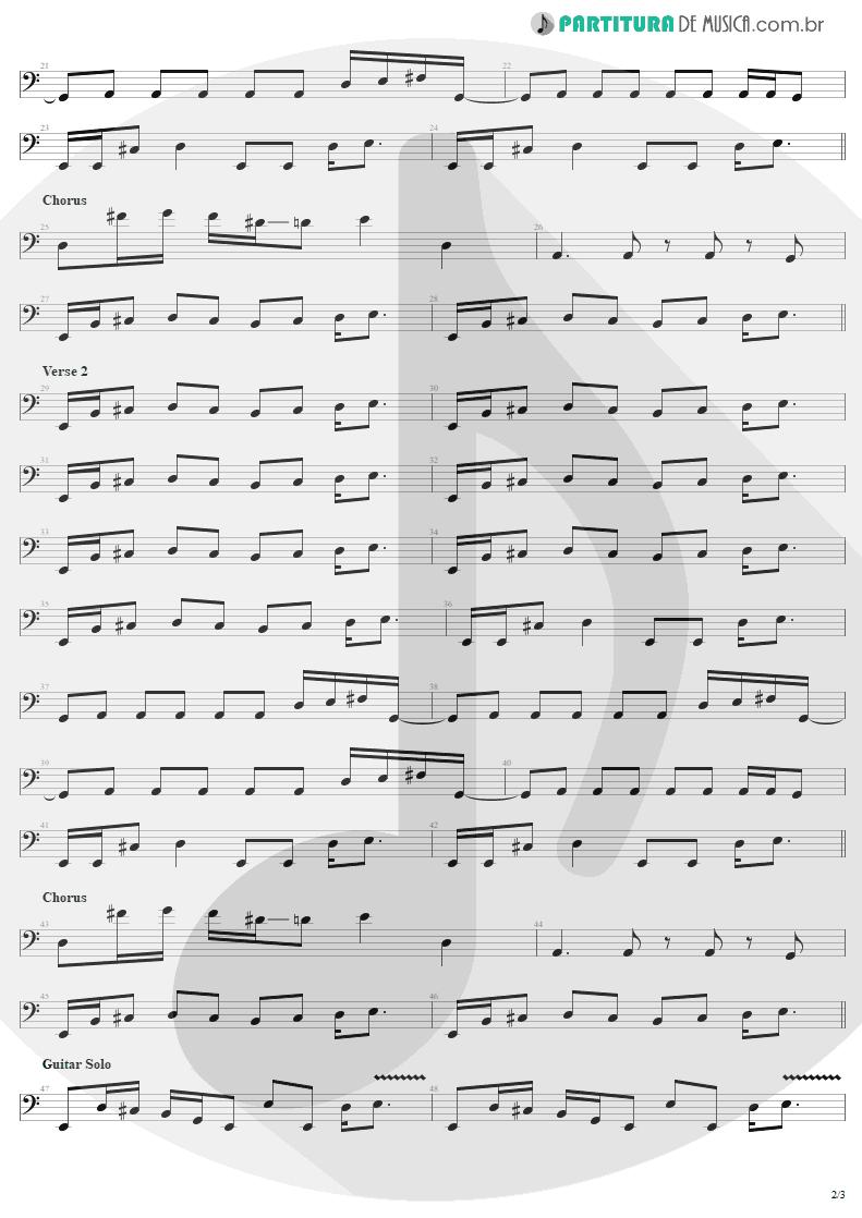 Partitura de musica de Baixo Elétrico - Last Child | Aerosmith | Rocks 1976 - pag 2