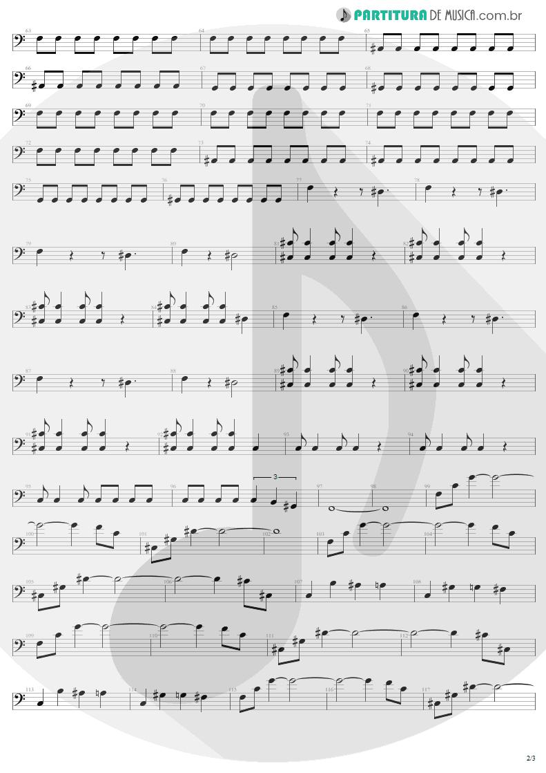 Partitura de musica de Baixo Elétrico - Kings and Queens | Aerosmith | Draw the Line 1977 - pag 2