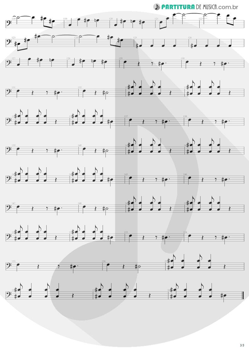 Partitura de musica de Baixo Elétrico - Kings and Queens | Aerosmith | Draw the Line 1977 - pag 3