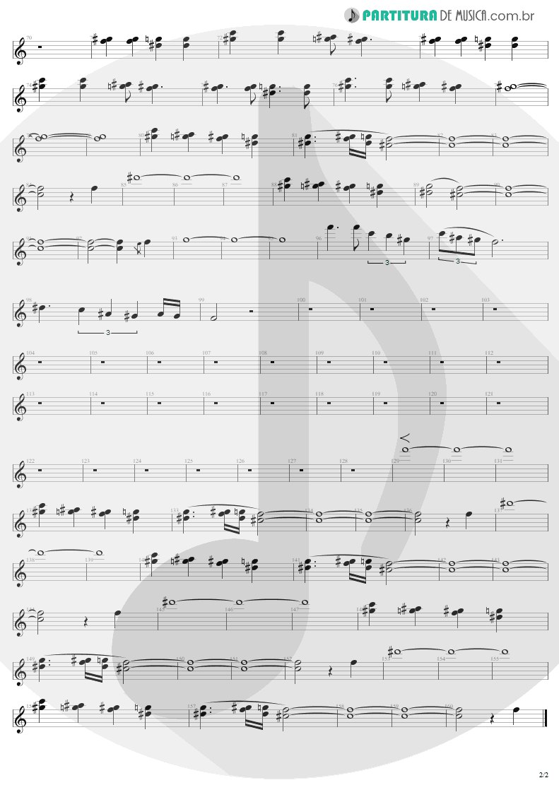 Partitura de musica de Canto - Kings and Queens | Aerosmith | Draw the Line 1977 - pag 2
