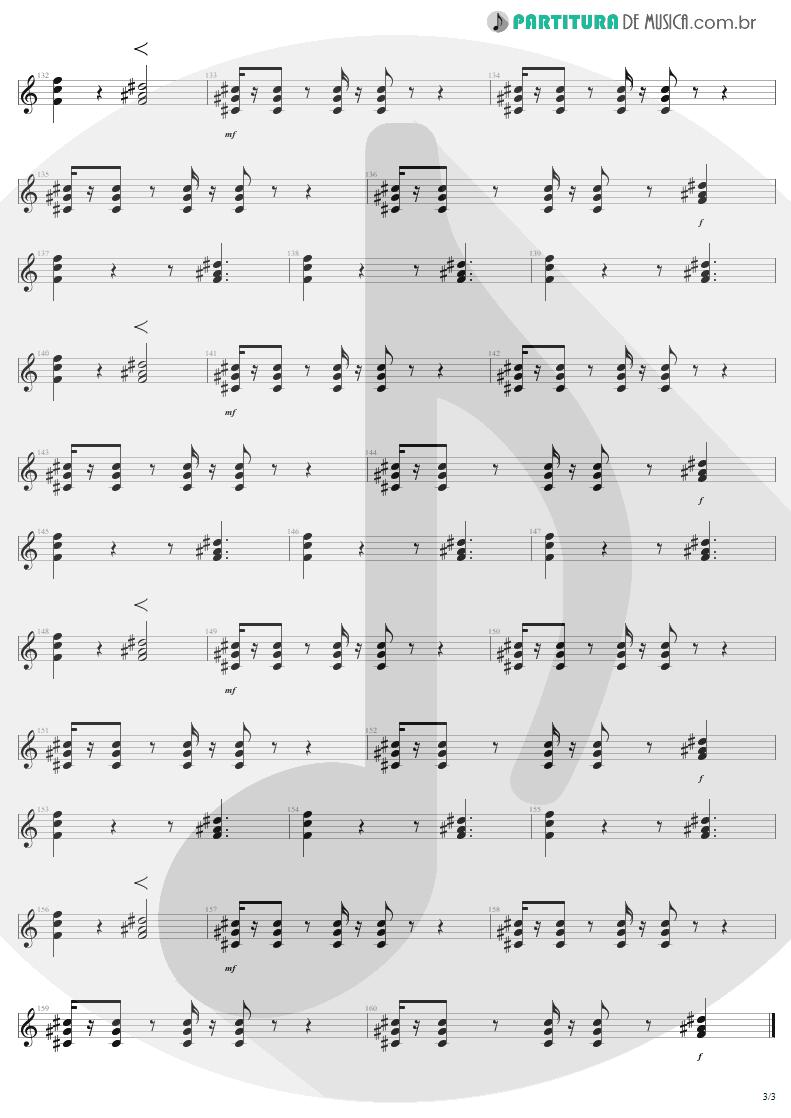 Partitura de musica de Guitarra Elétrica - Kings and Queens | Aerosmith | Draw the Line 1977 - pag 3