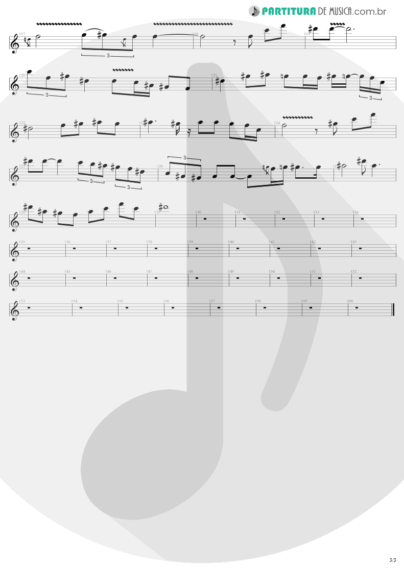Partitura de musica de Guitarra Elétrica - Kings and Queens | Aerosmith | Draw the Line 1977 - pag 3