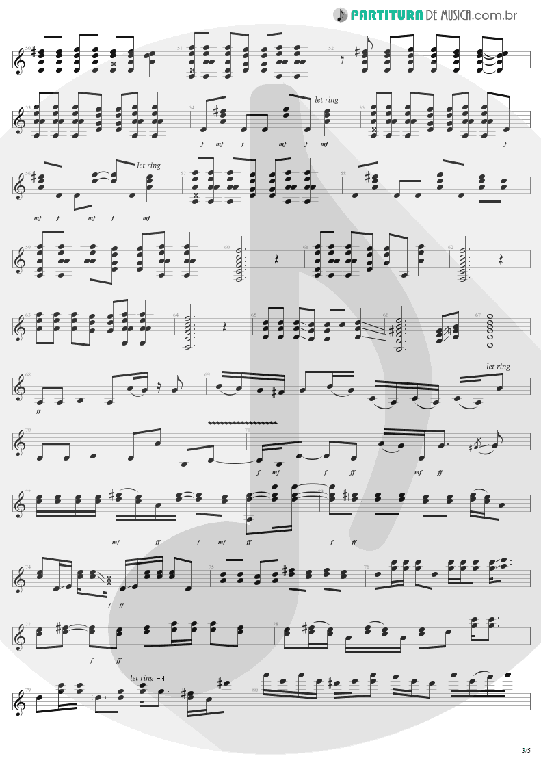 Partitura de musica de Guitarra Elétrica - Dude Looks Like A Lady | Aerosmith | Permanent Vacation 1987 - pag 3