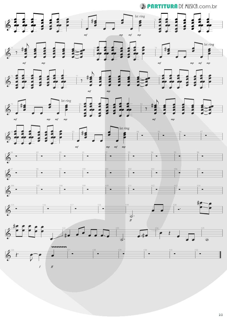 Partitura de musica de Guitarra Elétrica - Dude Looks Like A Lady | Aerosmith | Permanent Vacation 1987 - pag 2
