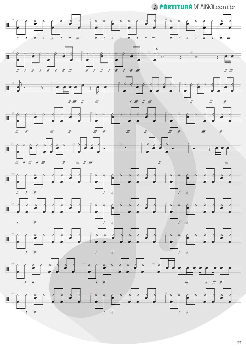 Partitura de musica de Bateria - I'm Down   Aerosmith   Permanent Vacation 1987 - pag 2