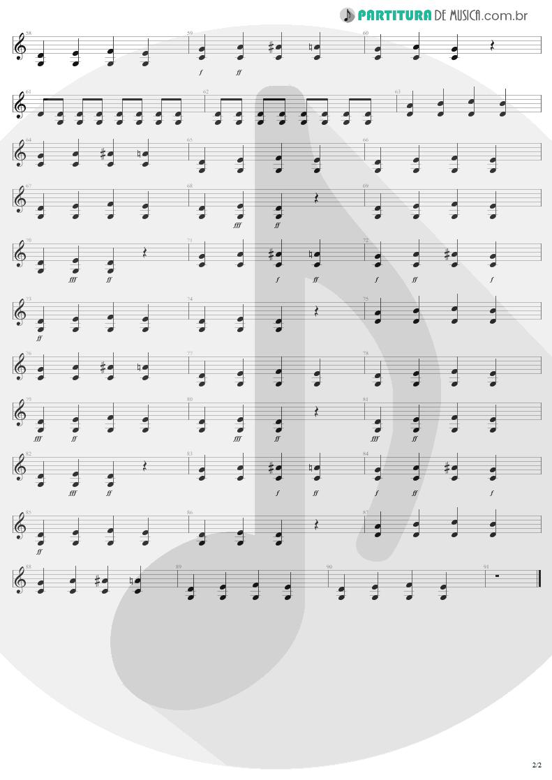 Partitura de musica de Guitarra Elétrica - I'm Down   Aerosmith   Permanent Vacation 1987 - pag 2
