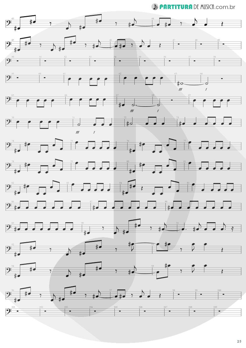 Partitura de musica de Baixo Elétrico - Water Song - Janie's Got A Gun | Aerosmith | Pump 1989 - pag 2