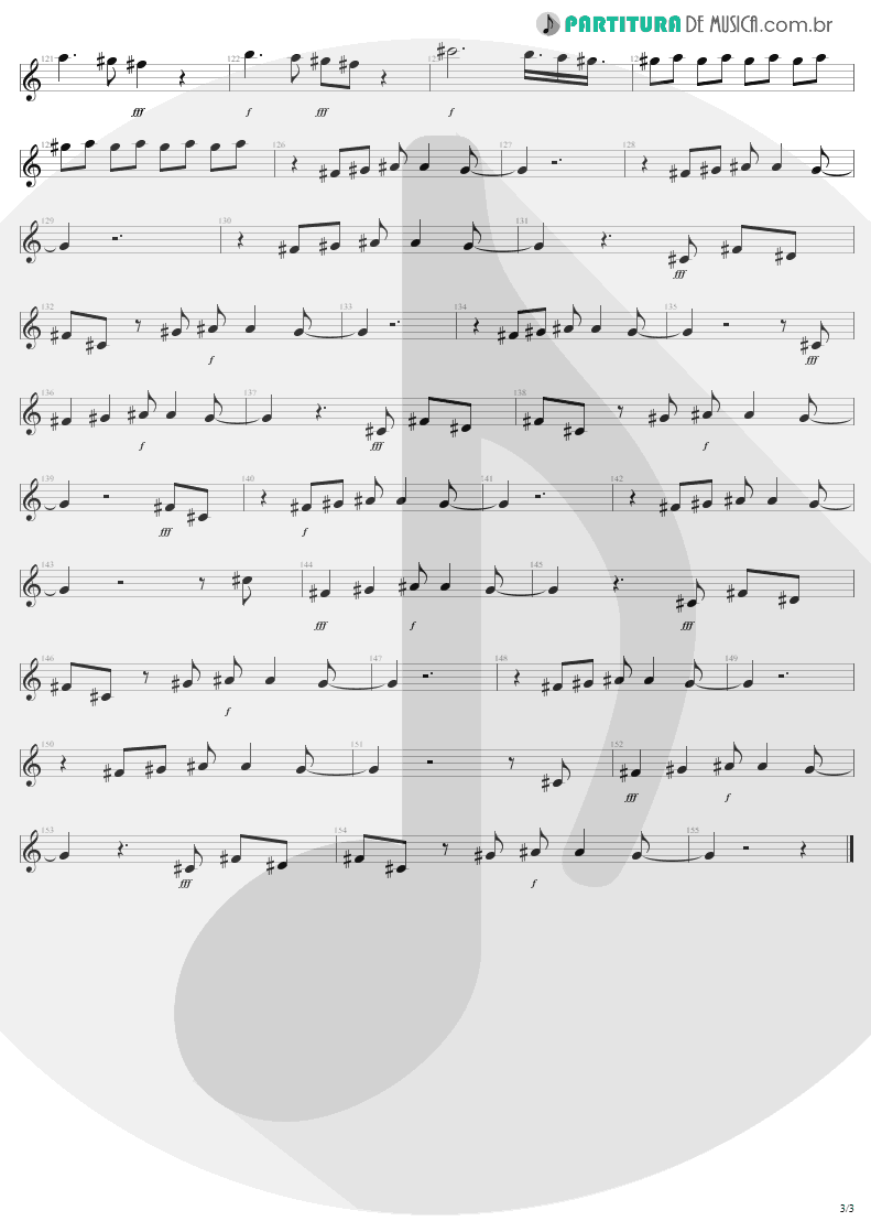 Partitura de musica de Canto - Water Song - Janie's Got A Gun | Aerosmith | Pump 1989 - pag 3