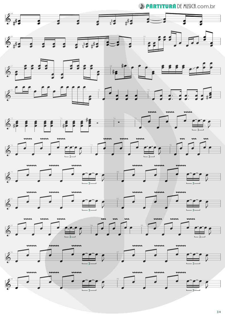Partitura de musica de Guitarra Elétrica - Livin' On The Edge | Aerosmith | Get A Grip 1993 - pag 3