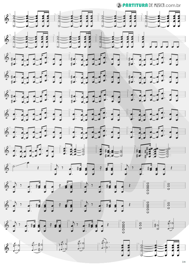 Partitura de musica de Guitarra Elétrica - Shut Up And Dance | Aerosmith | Get A Grip 1993 - pag 3