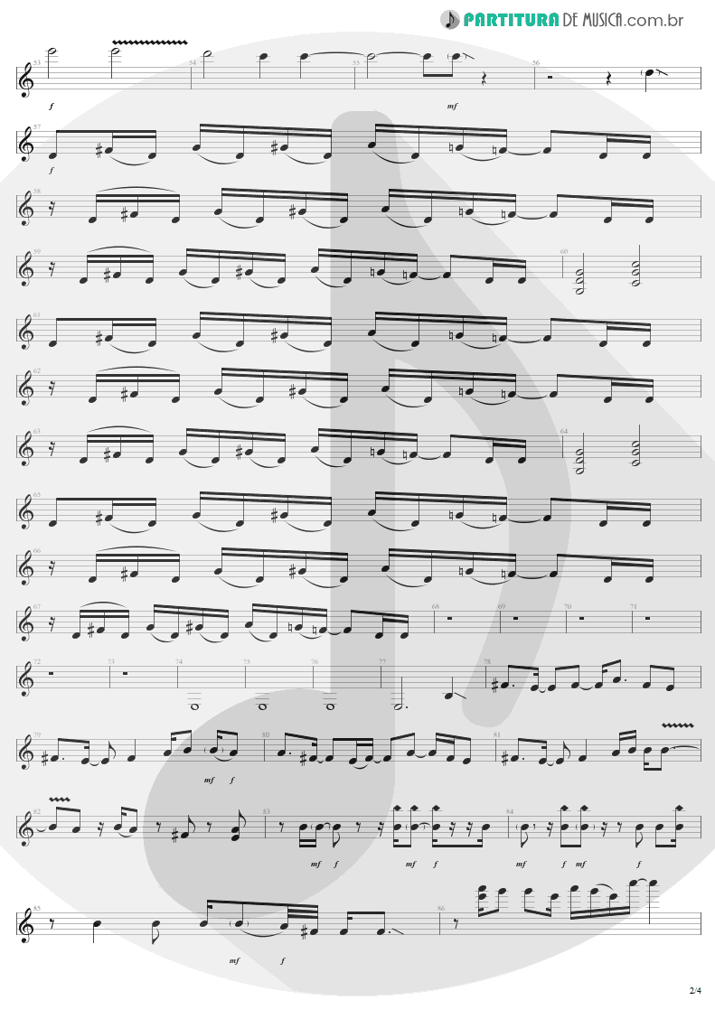 Partitura de musica de Guitarra Elétrica - Shut Up And Dance | Aerosmith | Get A Grip 1993 - pag 2