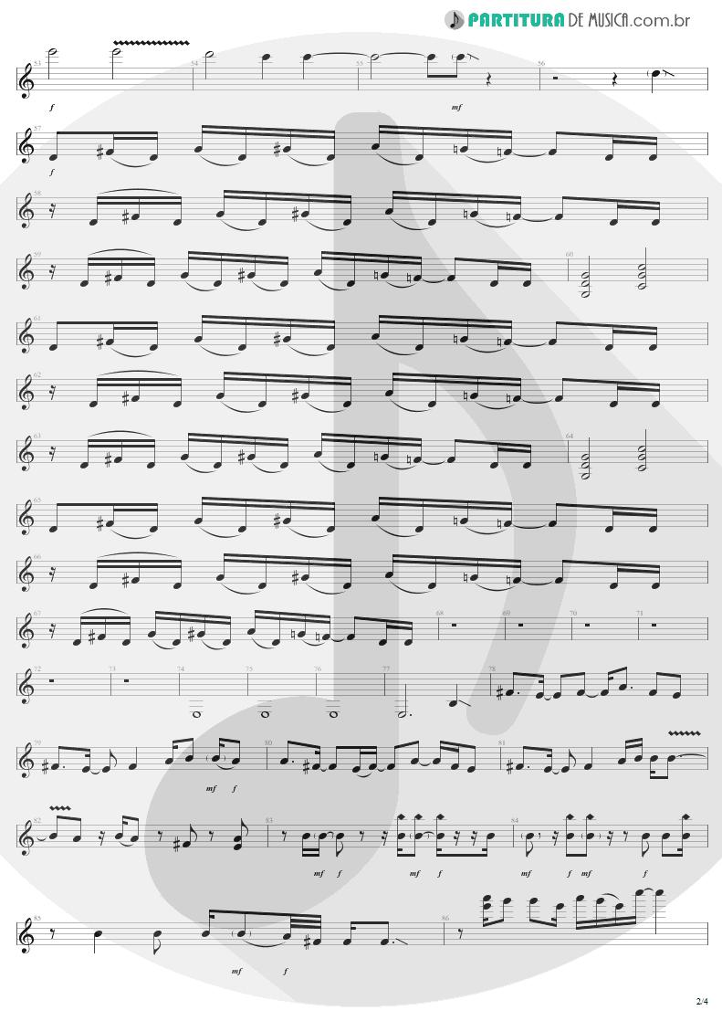 Partitura de musica de Guitarra Elétrica - Shut Up And Dance | Aerosmith | Get A Grip 1993 - pag 2