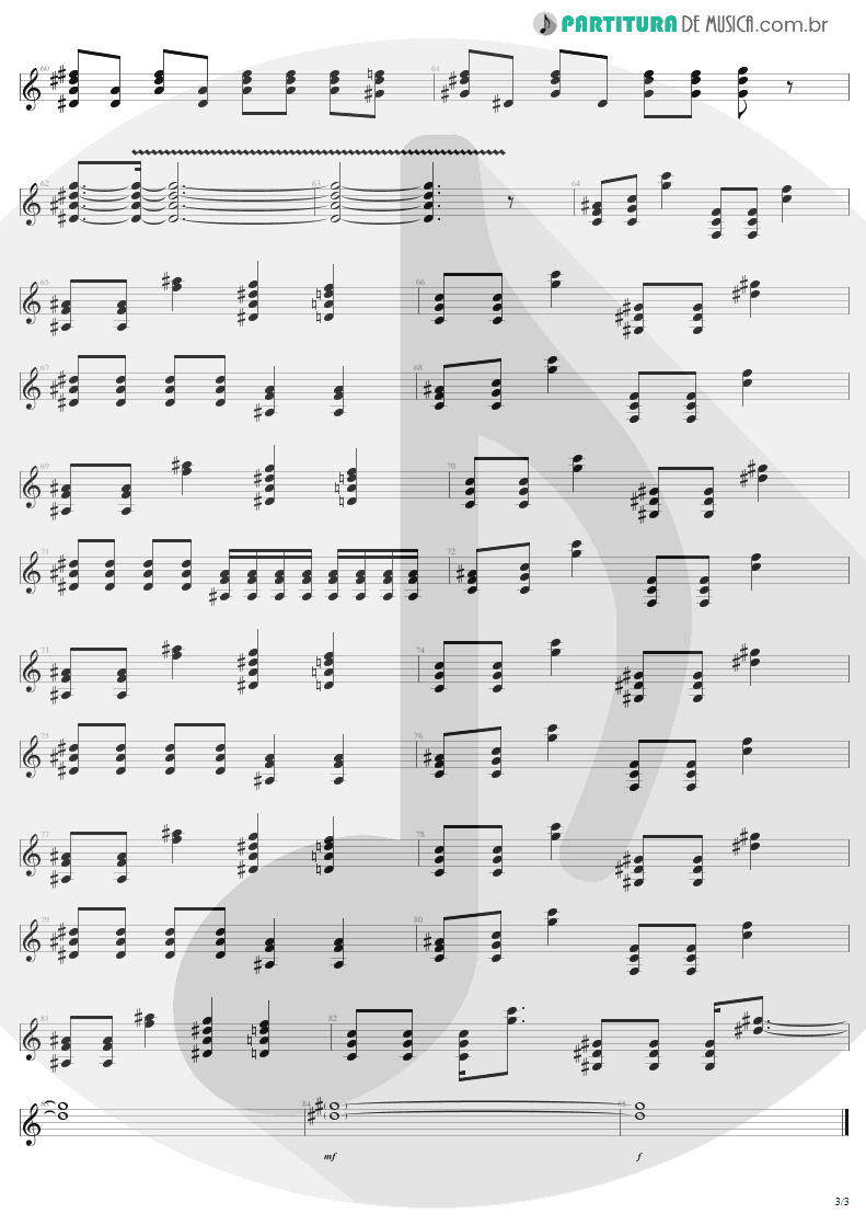 Partitura de musica de Guitarra Elétrica - Ain't That A Bitch | Aerosmith | Nine Lives 1997 - pag 3