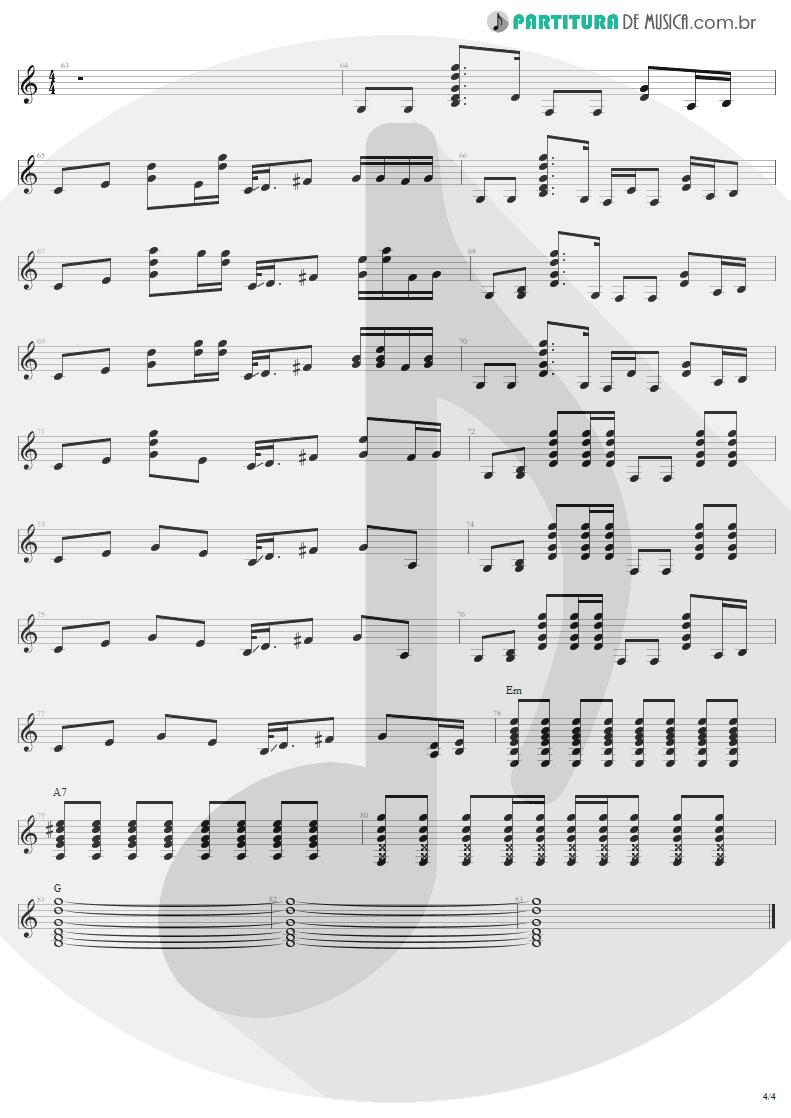 Partitura de musica de Guitarra Elétrica - Pink | Aerosmith | Nine Lives 1997 - pag 4