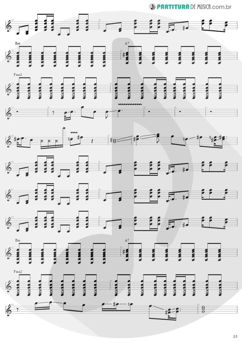 Partitura de musica de Guitarra Elétrica - Pink | Aerosmith | Nine Lives 1997 - pag 2