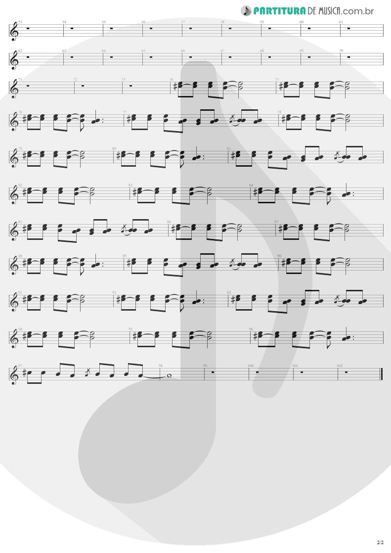 Partitura de musica de Guitarra Elétrica - Avant Garden | Aerosmith | Just Push Play 2001 - pag 2