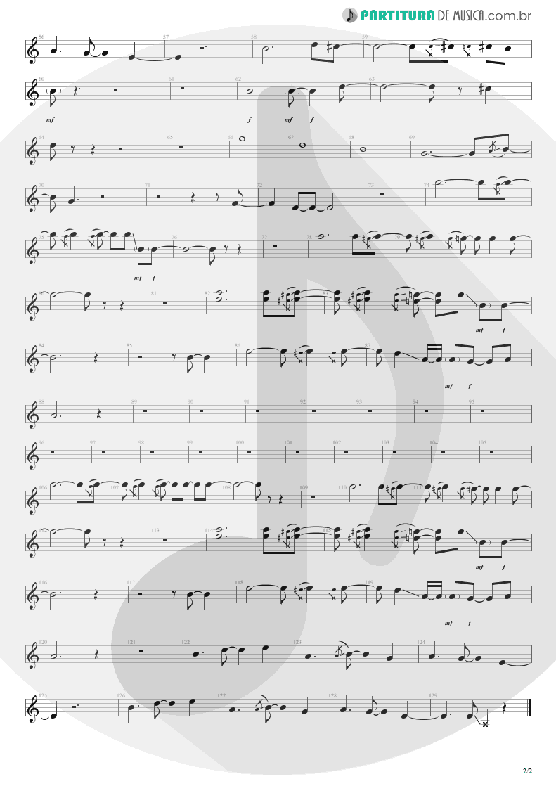 Partitura de musica de Canto - Man In The Box | Alice in Chains | Facelift 1990 - pag 2