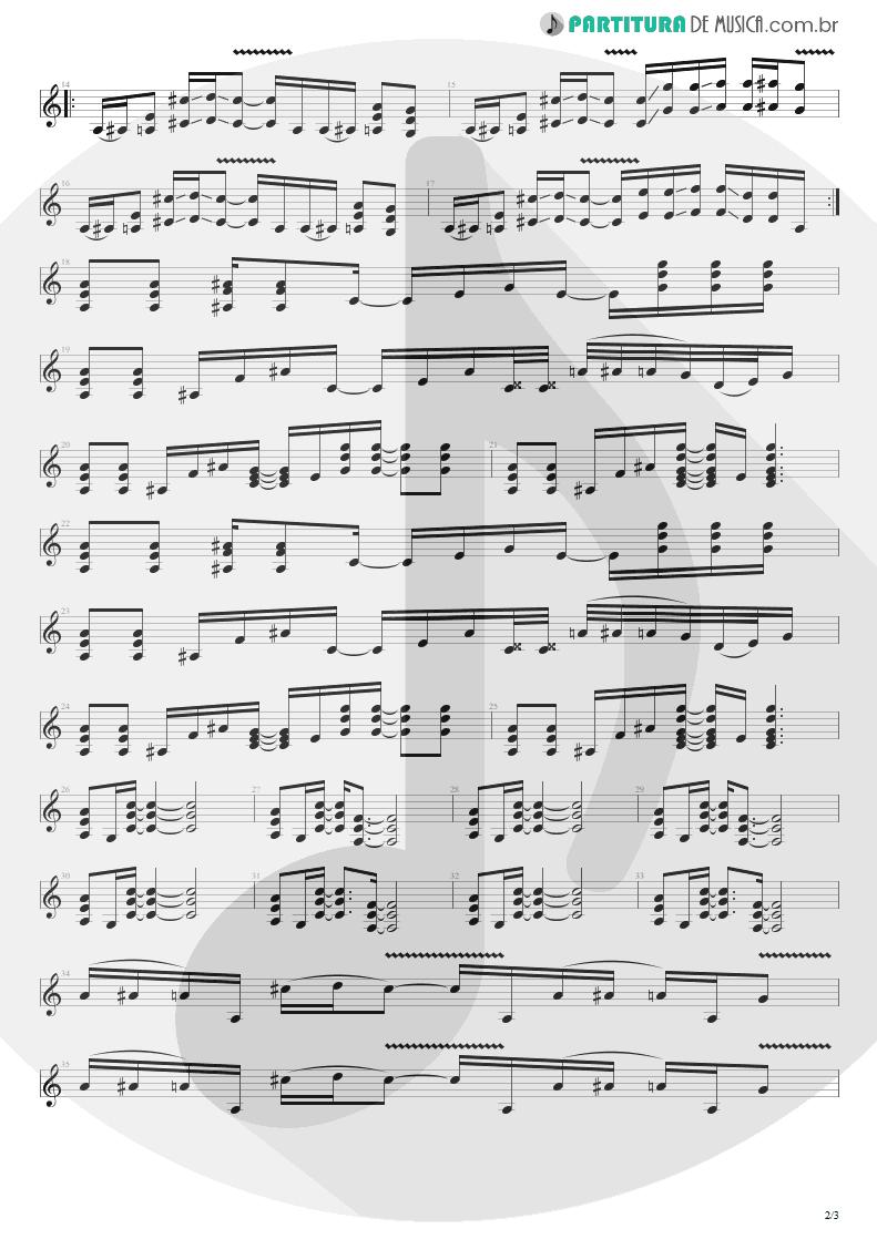 Partitura de musica de Guitarra Elétrica - Dirt   Alice in Chains   Dirt 1992 - pag 2