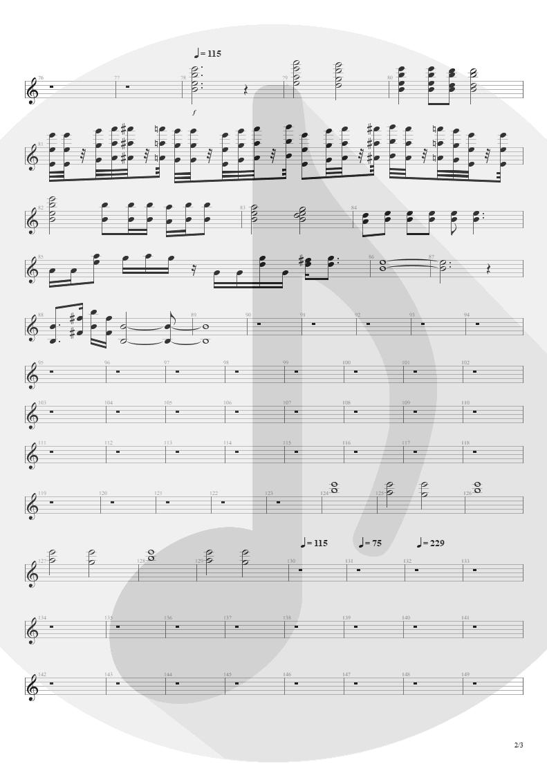 Partitura de musica de Órgão - Streets Of Tomorrow | Angra | Angels Cry 1993 - pag 2