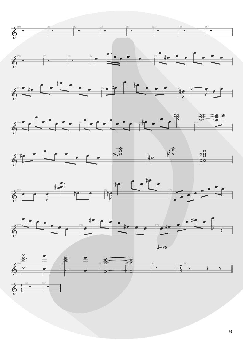 Partitura de musica de Órgão - Streets Of Tomorrow | Angra | Angels Cry 1993 - pag 3