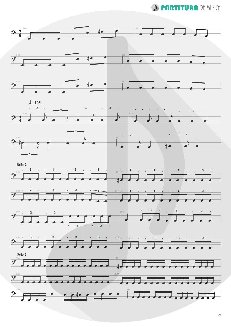Partitura de musica de Baixo Elétrico - Speed | Angra | Fireworks 1998 - pag 5