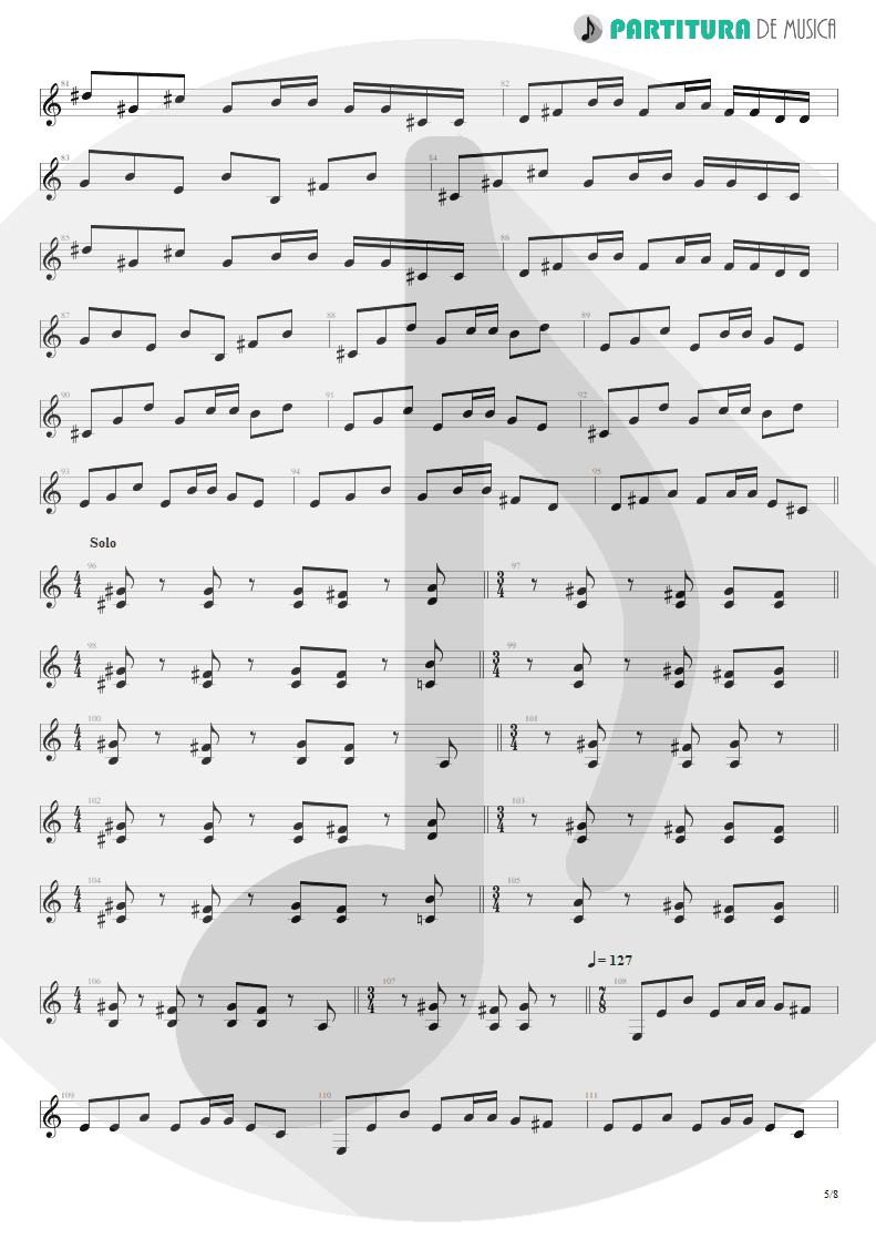Partitura de musica de Guitarra Elétrica - Speed | Angra | Fireworks 1998 - pag 5