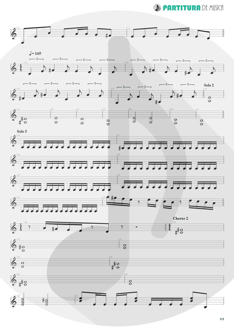 Partitura de musica de Guitarra Elétrica - Speed | Angra | Fireworks 1998 - pag 6