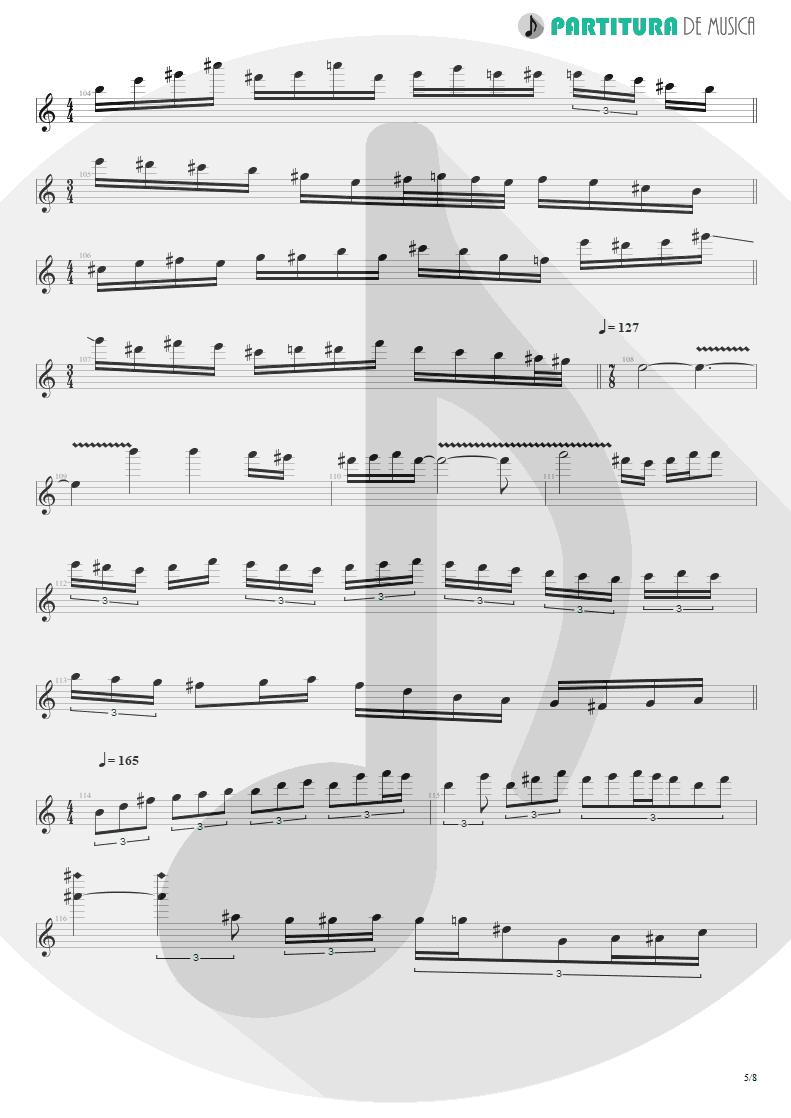 Partitura de musica de Guitarra Elétrica - Speed   Angra   Fireworks 1998 - pag 5